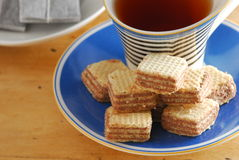 Hazelnut wafer Stock Image