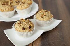 Hazelnut and Walnut Muffins. Homemade Hazelnut and Walnut Muffins royalty free stock images
