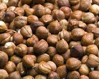 Hazelnuts. A Close up Of Hazelnuts Royalty Free Stock Photos