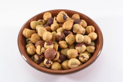 Hazelnuts. Close up of hazelnuts in a bowl Royalty Free Stock Images