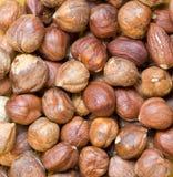 Hazelnuts background Stock Photography