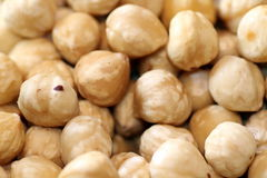 Hazelnuts background Royalty Free Stock Images