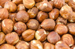 Hazelnuts background Stock Photo