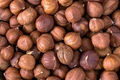 Hazelnuts background Royalty Free Stock Photos