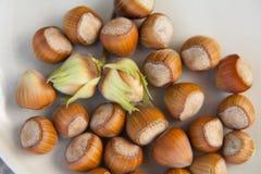 Hazelnuts, background Stock Photos
