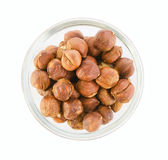 Hazelnuts in a bowl Stock Images
