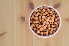 Hazelnuts in a bowl Stock Image
