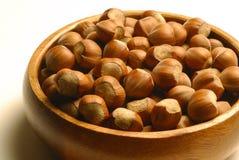 Hazelnuts bowl Royalty Free Stock Images