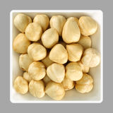 Hazelnuts in a bowl Royalty Free Stock Image