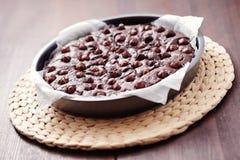 Hazelnuts brownie Stock Photo