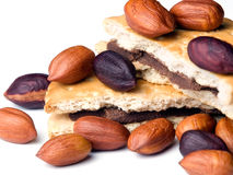 Hazelnuts and cookies Royalty Free Stock Photography