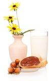 Hazelnuts cream Stock Images