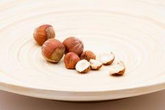 Hazelnuts On A Dish Royalty Free Stock Photo