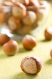 Hazelnuts (filbert). On the table Royalty Free Stock Photos