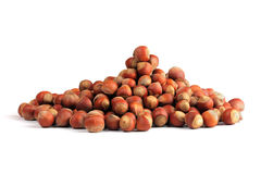 Hazelnuts heap Stock Photos