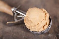 Hazelnuts ice cream Stock Images