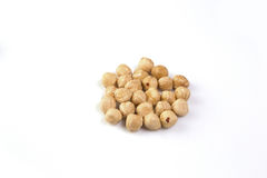 Hazelnuts isoalted Stock Photography