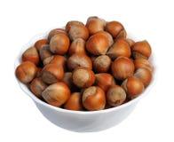 Hazelnuts, isolated Stock Photography