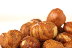Hazelnuts Isolated Royalty Free Stock Photography
