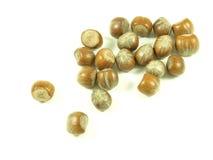 Hazelnuts,isolated. Hazelnuts on white isolated background stock photos