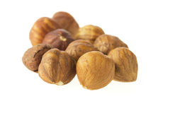 Hazelnuts Isolated Stock Photo