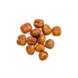 Hazelnuts isolated Royalty Free Stock Photos