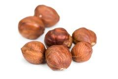 Hazelnuts isolated on white Royalty Free Stock Photo