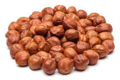 Hazelnuts isolated on white. Royalty Free Stock Image