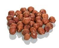 Hazelnuts isolated on white Royalty Free Stock Photos