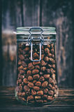 Hazelnuts in a jar Royalty Free Stock Photography