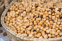 Hazelnuts On The Market Stock Images