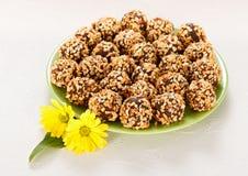Hazelnuts piłki Fotografia Royalty Free
