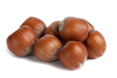 Hazelnuts Pile Stock Photos