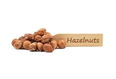 Hazelnuts on plate Royalty Free Stock Photography