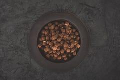 Hazelnuts on plate Royalty Free Stock Photo