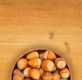 Hazelnuts in pot Stock Image