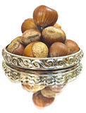 Hazelnuts in ring Stock Photo