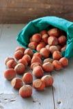 Hazelnuts on the table Stock Photo