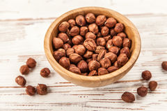 Hazelnuts top view Royalty Free Stock Photo