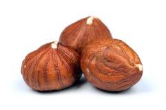 Hazelnuts on white Royalty Free Stock Photos