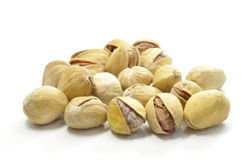 Hazelnuts on white Royalty Free Stock Image