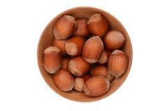 Hazelnuts. On a white background Stock Photography