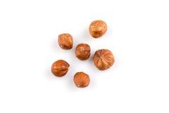 Hazelnuts on the white background Stock Photo