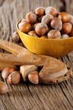 Hazelnuts With Nutcracker Royalty Free Stock Photography