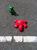 Hazen en schildpad Stock Fotografie