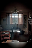 Hazey vardagsrum Fotografering för Bildbyråer
