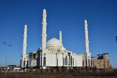 The Haziret Sultan Mosque in Astana / Kazakhstan Royalty Free Stock Photography