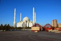 The Haziret Sultan Mosque in Astana / Kazakhstan Stock Image