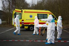 Hazmat response team Royalty Free Stock Images