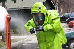 Hazmat response team at work Stock Image